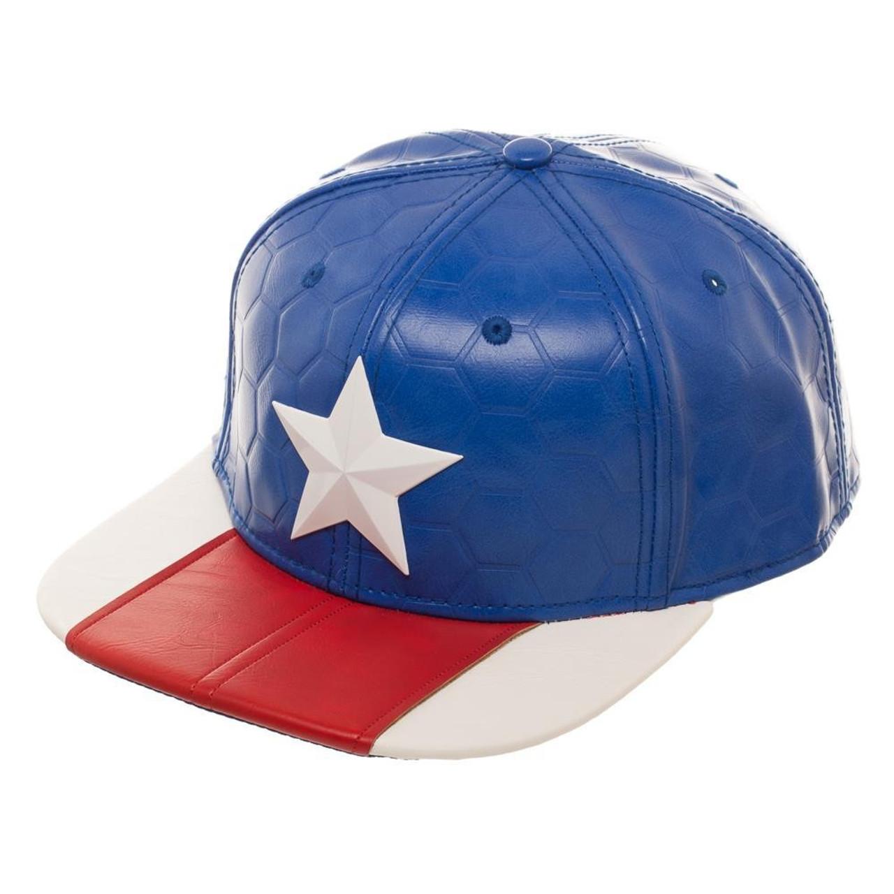 Marvel Deadpool Captain America Now Suit Up Snapback Cap Bioworld - ToyWiz 48a9896eae6