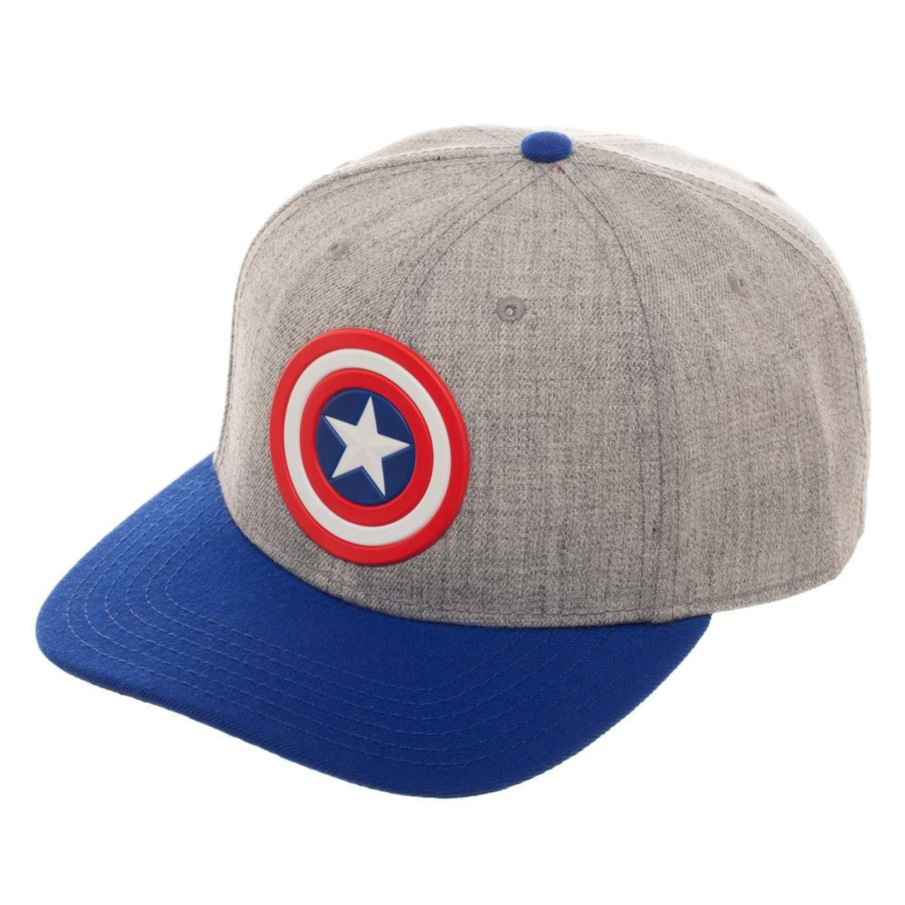 info for 13853 f9364 Marvel Deadpool Captain America Logo Curved Snapback Cap Bioworld - ToyWiz