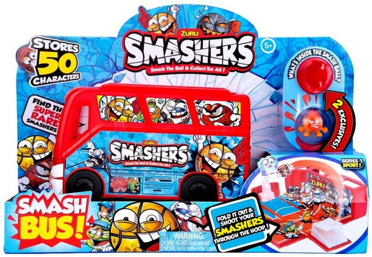Smashers Series 1 Sports Smash Bus Playset Basketball Zuru Toys - ToyWiz