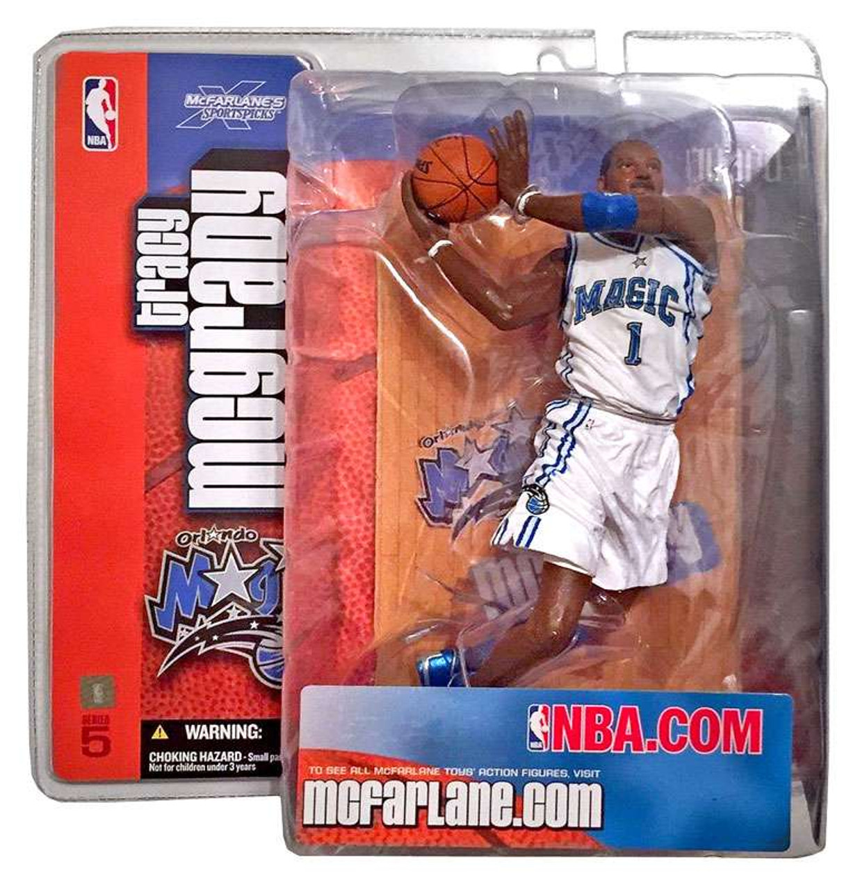 brand new bb2c7 d5159 McFarlane Toys NBA Orlando Magic Sports Picks Series 5 Tracy McGrady Action  Figure [White Jersey Variant]