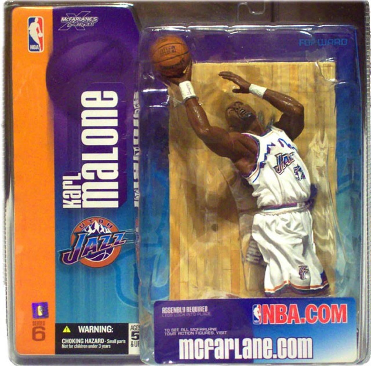 finest selection a53af f0987 McFarlane Toys NBA Utah Jazz Sports Picks Series 6 Karl Malone Action  Figure [White Utah Jersey]