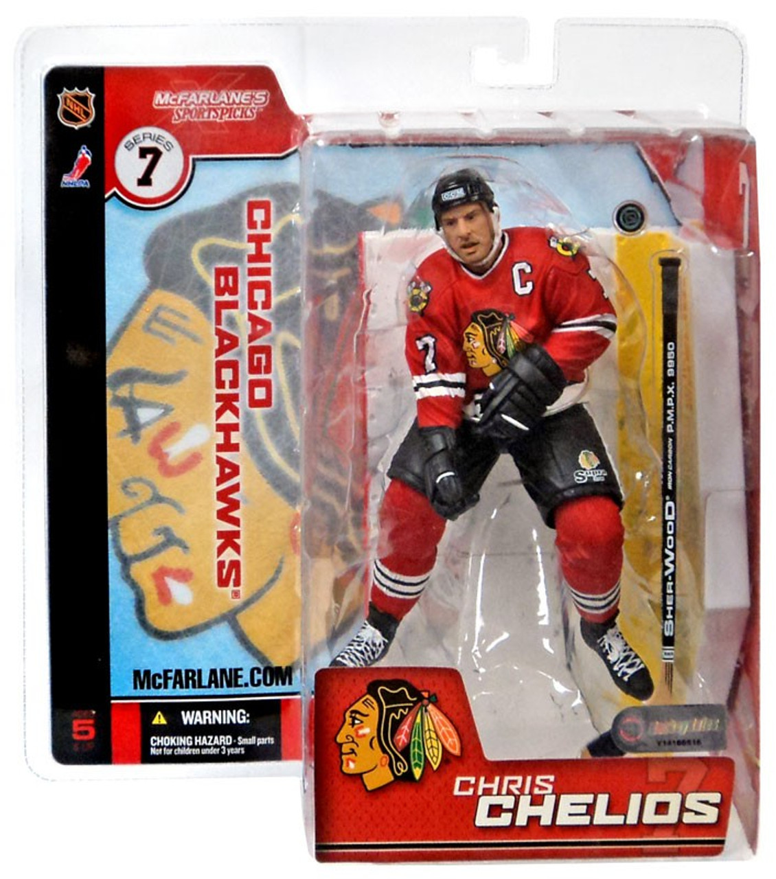 newest collection b631d e1093 McFarlane Toys NHL Chicago Blackhawks Sports Picks Series 7 Chris Chelios  Action Figure [Red Retro Jersey Variant]
