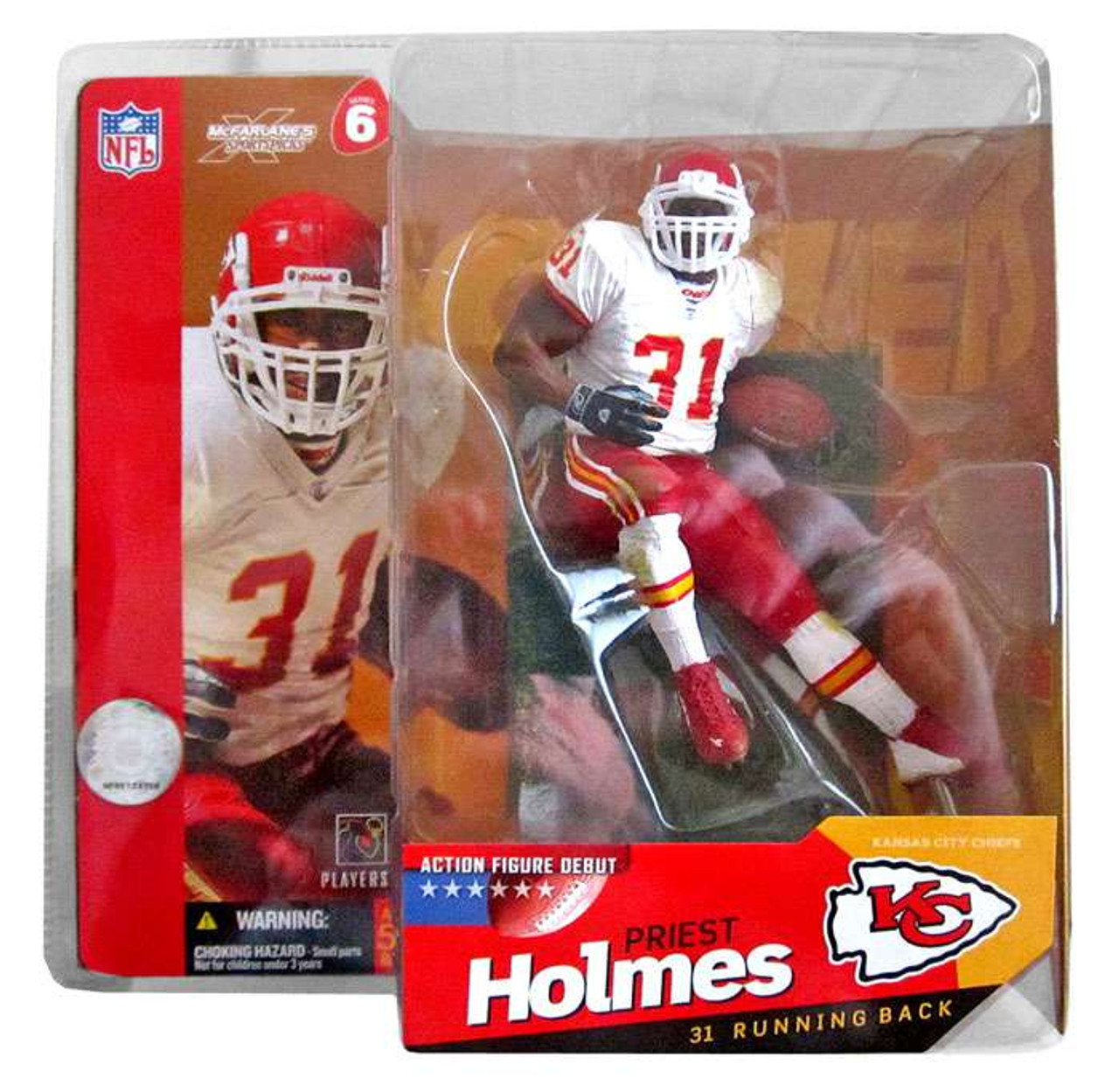 2629713d460 McFarlane Toys NFL Kansas City Chiefs Sports Picks Series 6 Priest Holmes  Action Figure White Jersey - ToyWiz
