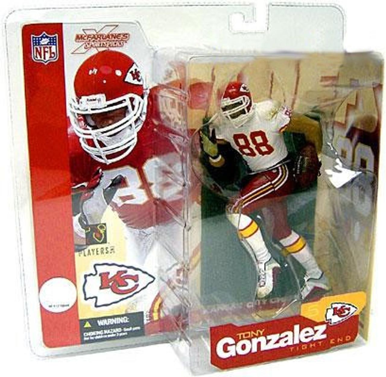 McFarlane Toys NFL Kansas City Chiefs Sports Picks Series 5 Tony Gonzalez  Action Figure White Jersey Variant - ToyWiz f48c584e2