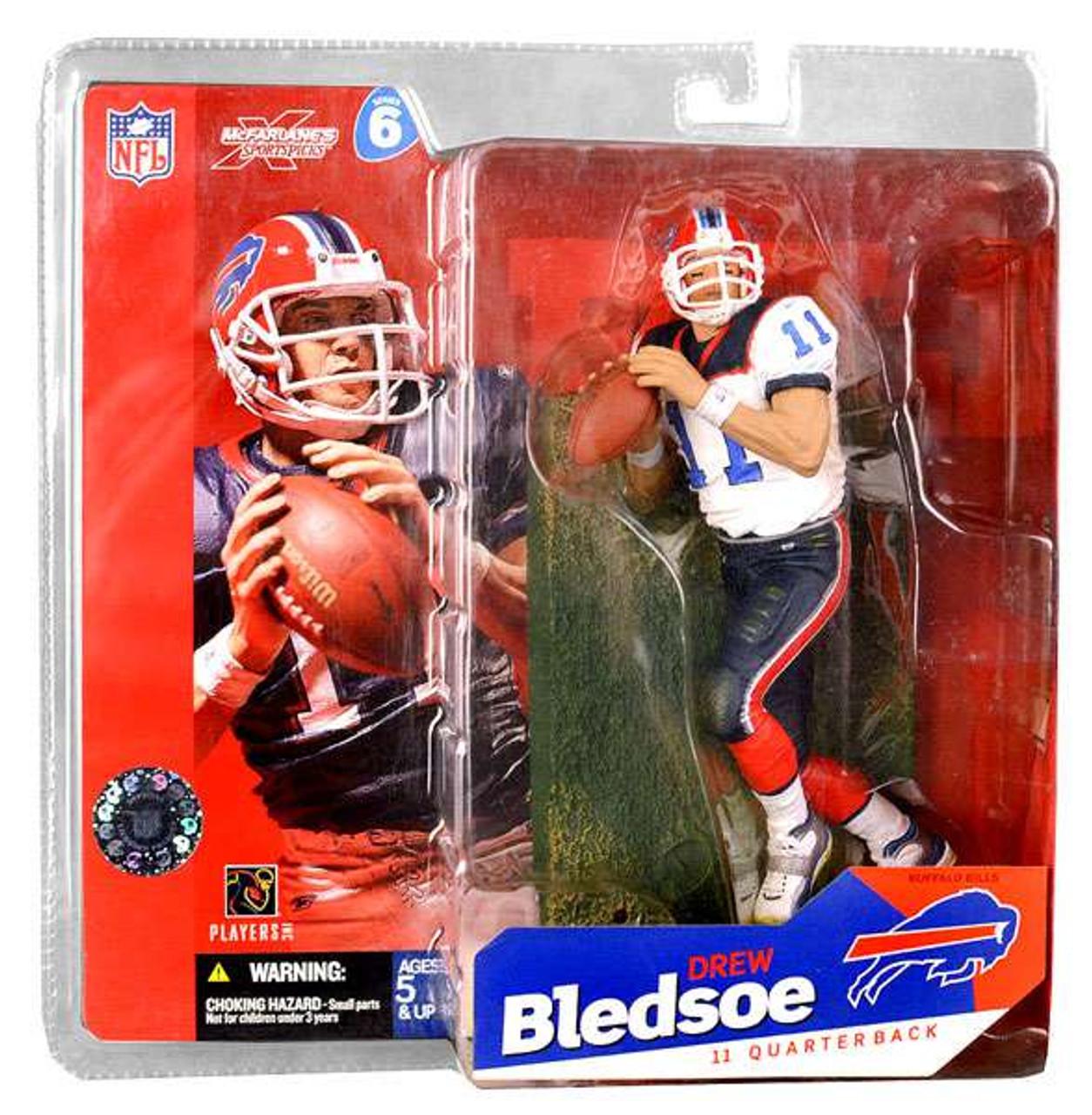dae4c48ffdf McFarlane Toys NFL Buffalo Bills Sports Picks Series 6 Drew Bledsoe Action  Figure White Jersey Variant - ToyWiz