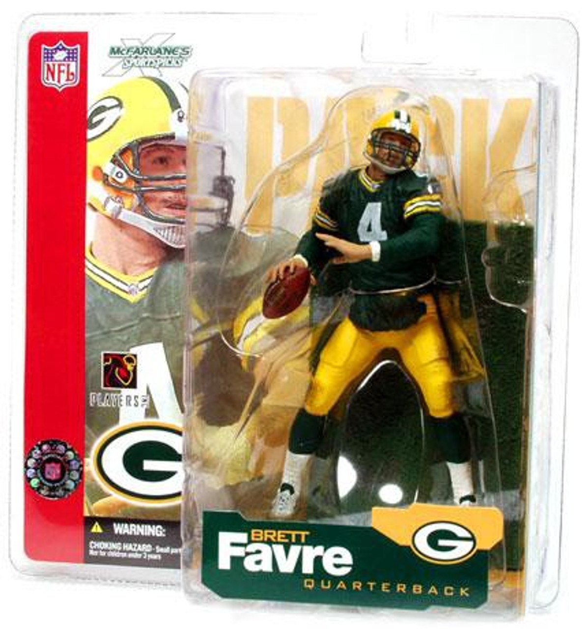 official photos 19146 7e4cd McFarlane Toys NFL Green Bay Packers Sports Picks Series 4 Brett Favre  Action Figure [Green Jersey]