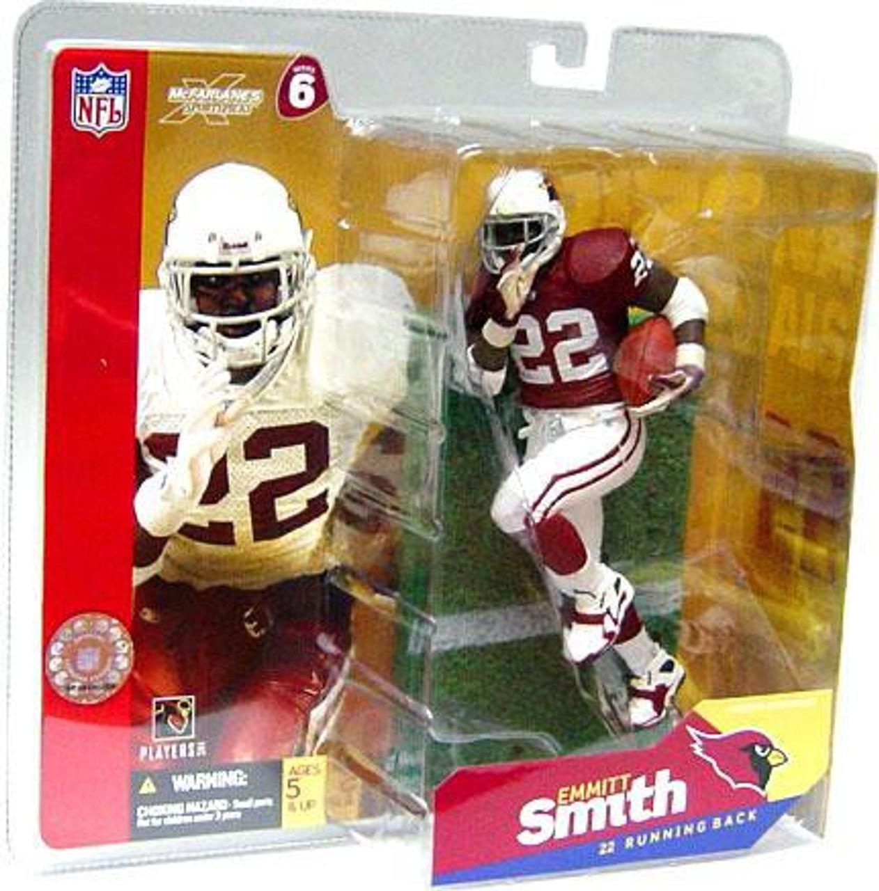 aa34ed041bd7 McFarlane Toys NFL Arizona Cardinals Sports Picks Series 6 Emmitt Smith  Action Figure  Red Jersey