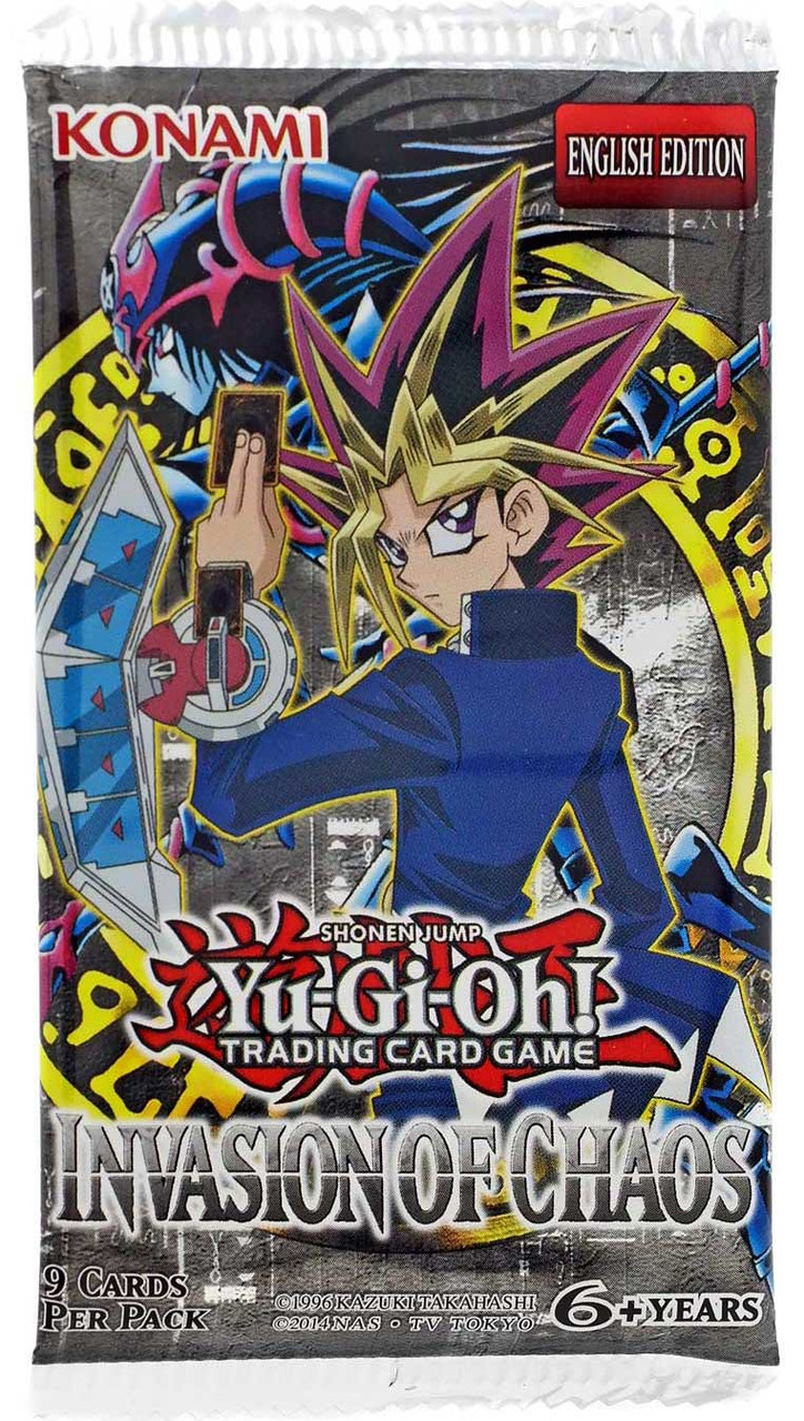 yugioh trading card game invasion of chaos booster pack