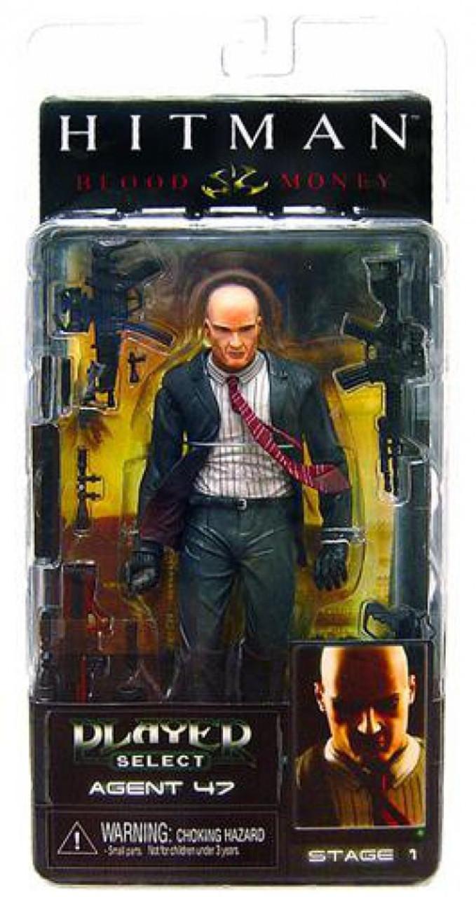 Neca Hitman Player Select Series 1 Agent 47 7 Action Figure Dark Suit Toywiz