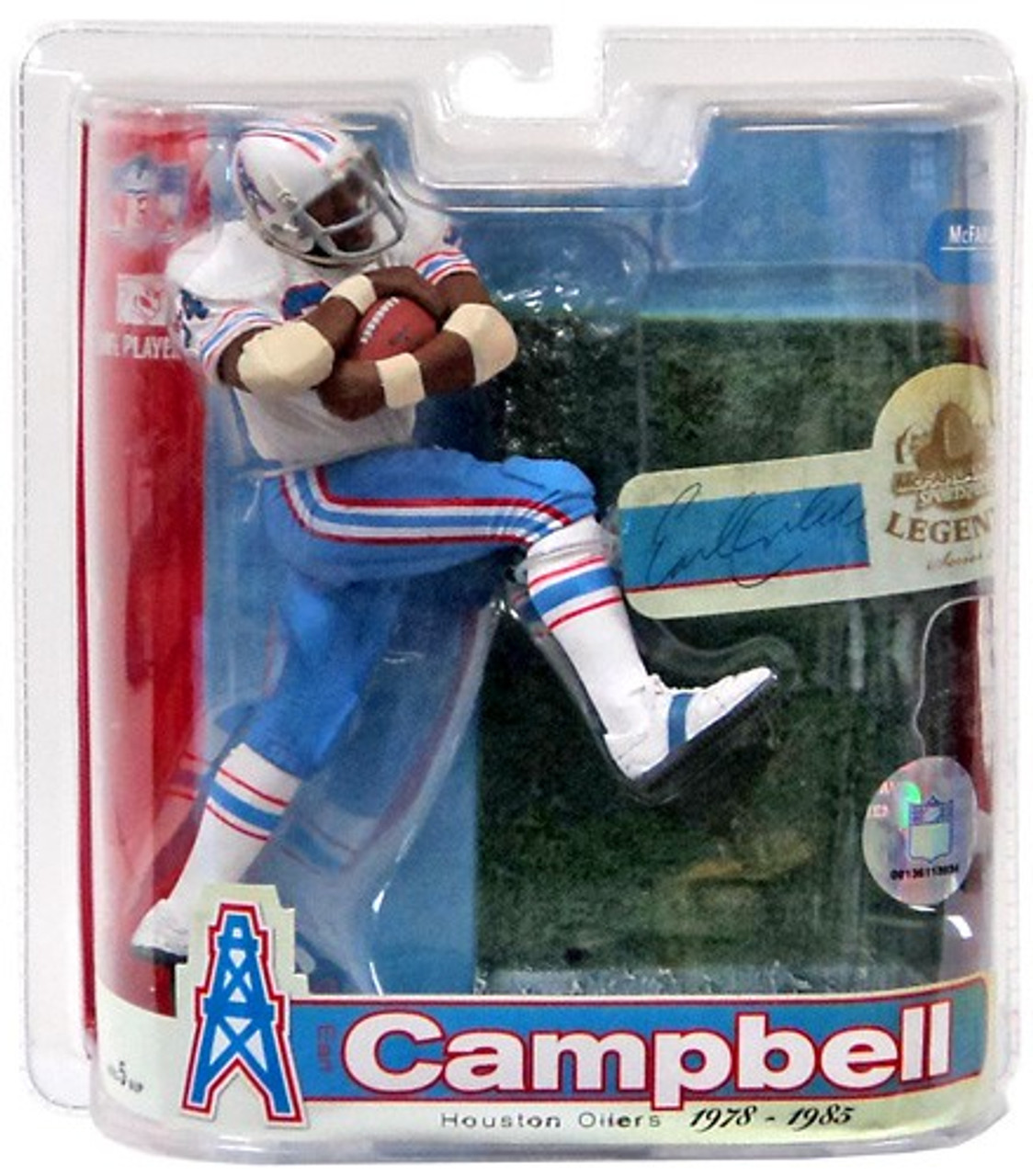 best loved dfdb0 7d518 McFarlane Toys NFL Houston Oilers Sports Picks Legends Series 3 Earl  Campbell Action Figure [White Jersey Variant]