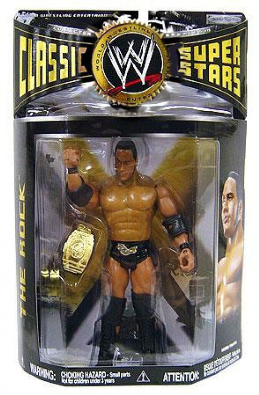 WWE Wrestling Classic Superstars Series 19 The Rock Action Figure ...