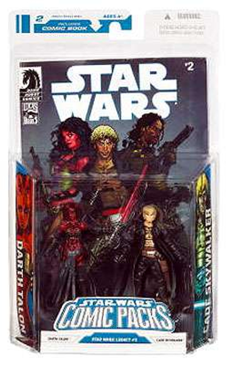 Roblox Galaxy Antares Star Wars Expanded Universe 2009 Comic Packs Darth Talon Cade Skywalker 3 75 Action Figure 2 Pack 2 Hasbro Toys Toywiz