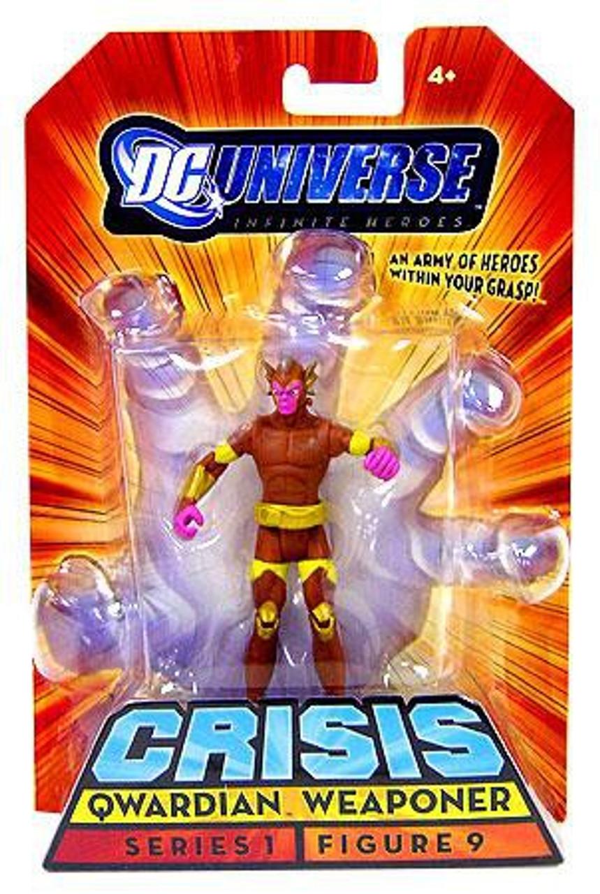 "DC Universe Infinite Heroes Crisis 3.75/"" QWARDIAN WEAPONER Figure"