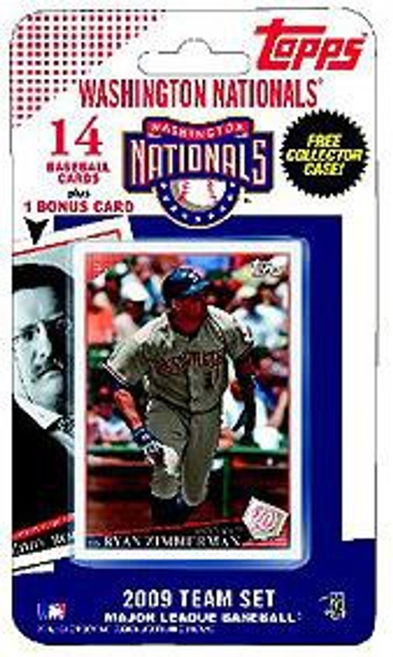 Mlb 2009 Topps Baseball Cards Washington Nationals Team Set Includes Teddy Roosevelt Card