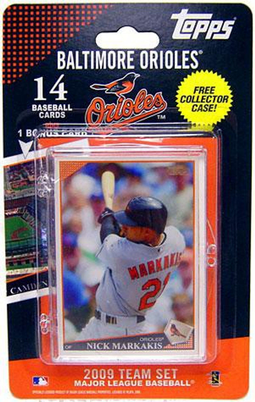 Mlb 2009 Topps Baseball Cards Baltimore Orioles Team Set Includes Oriole Park At Camden Yards Card
