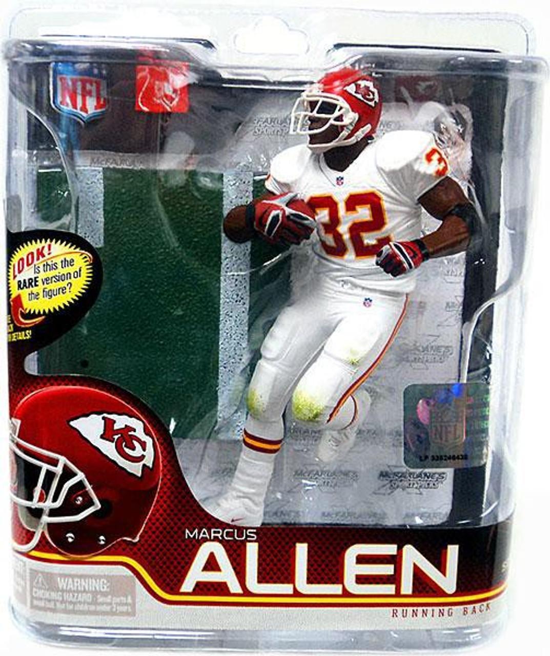 newest 34197 b0cf5 McFarlane Toys NFL Kansas City Chiefs Sports Picks Series 27 Marcus Allen  Action Figure [White Jersey]