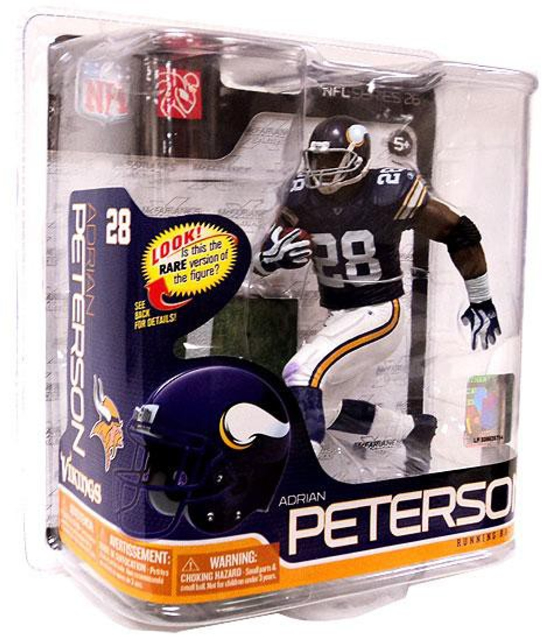 e4f000982 McFarlane Toys NFL Minnesota Vikings Sports Picks Series 26 Adrian Peterson Action  Figure Solid Purple Jersey - ToyWiz