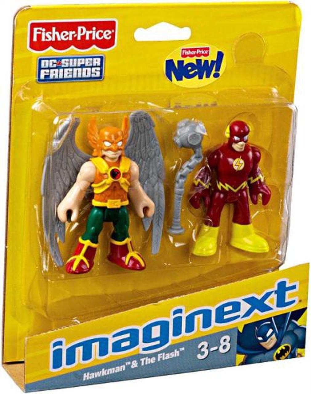 Fisher Price Dc Super Friends Imaginext Hawkman The Flash 3 Mini Figures Toywiz