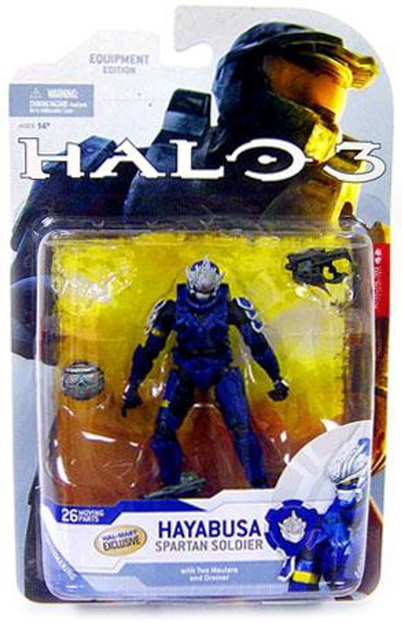 McFarlane Toys Halo 3 Series 4 Spartan Soldier Hayabusa Exclusive Action  Figure [Blue]