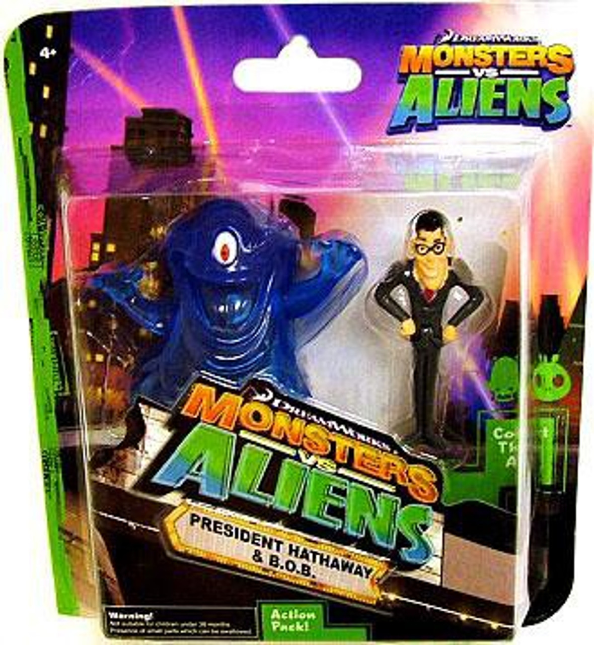 Monsters Vs Aliens President Hathway B O B Mini Figure 2 Pack Dreamworks Animation Toywiz