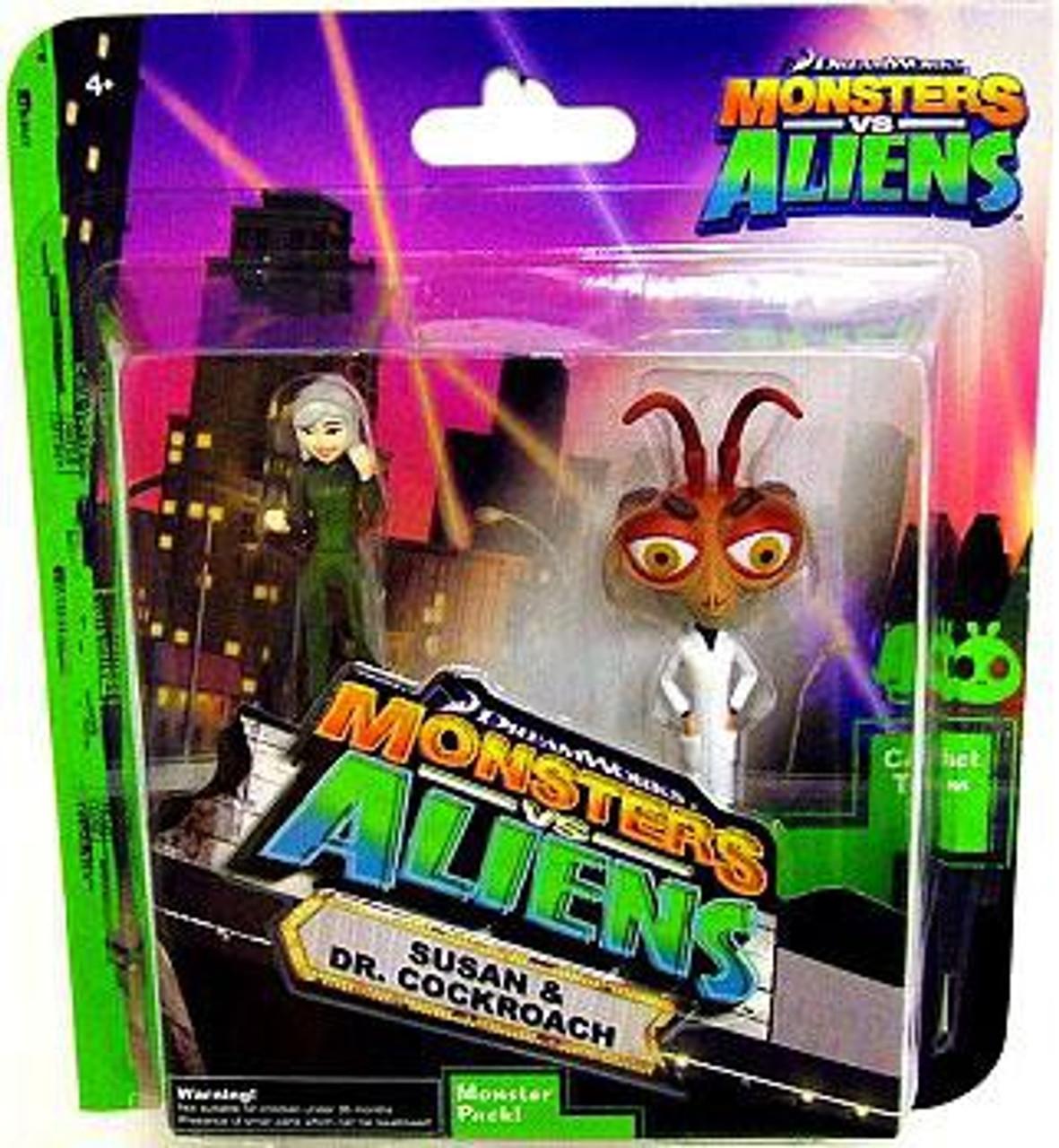 Monsters Vs. Aliens Susan Dr. Cockroach Mini Figure 2-Pack
