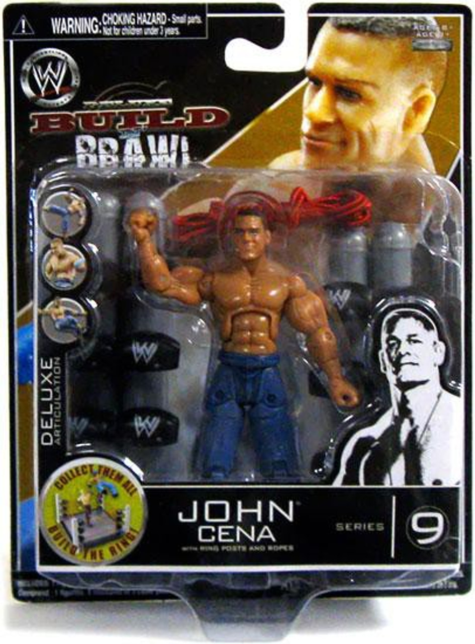 WWE Wrestling Build N/' Brawl Series 8 The Rock Action Figure