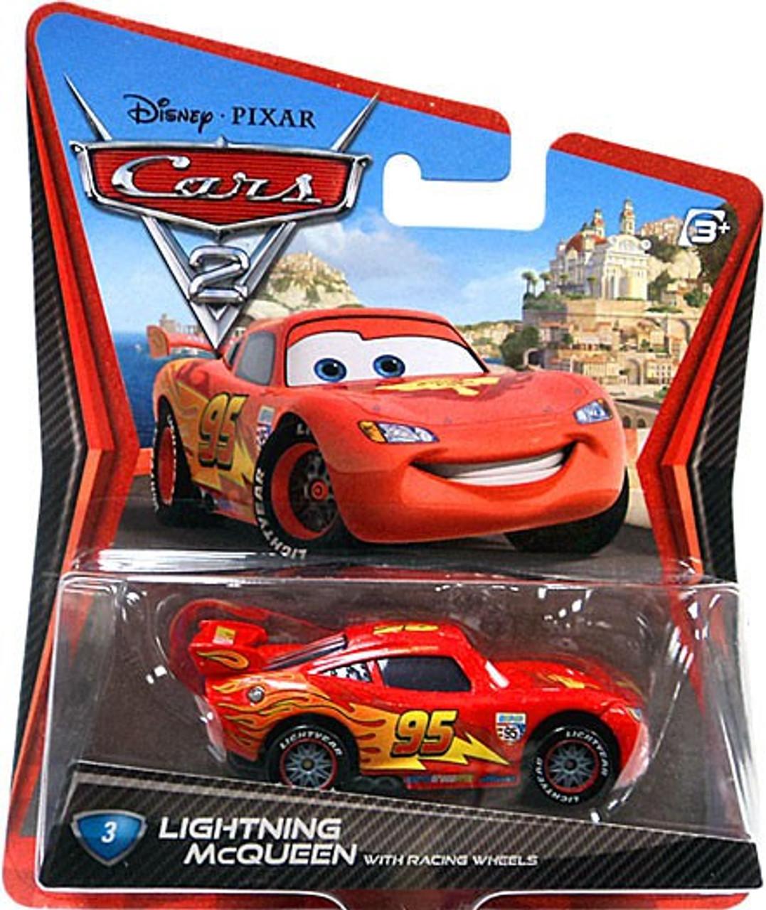 DISNEY PIXAR CARS 2 WORLD GRAND PRIX SERIES LIGHTNING MCQUEEN W// RACING WHEELS