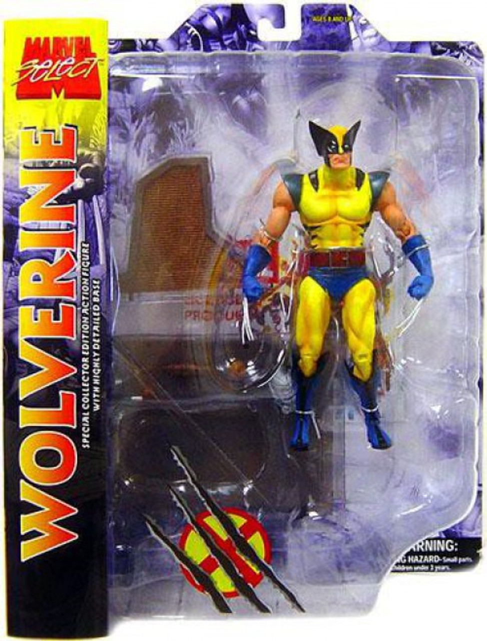 X-MEN Wolverine Yellow Costume Marvel Select Action Figure Diamond