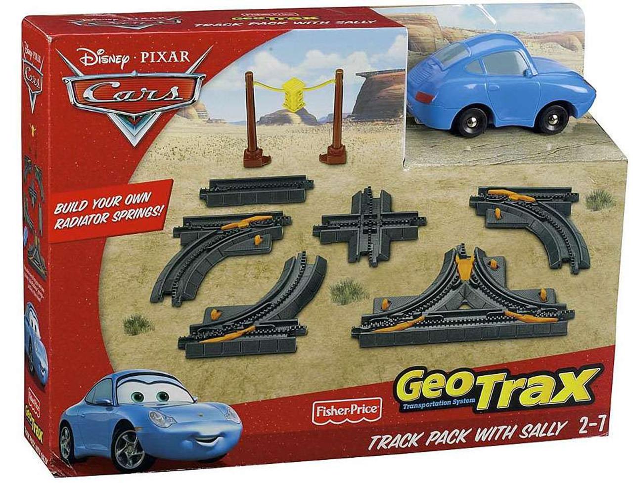 Fisher Price Disney Pixar Cars Geotrax Track Pack With Sally Geotrax Playset Toywiz