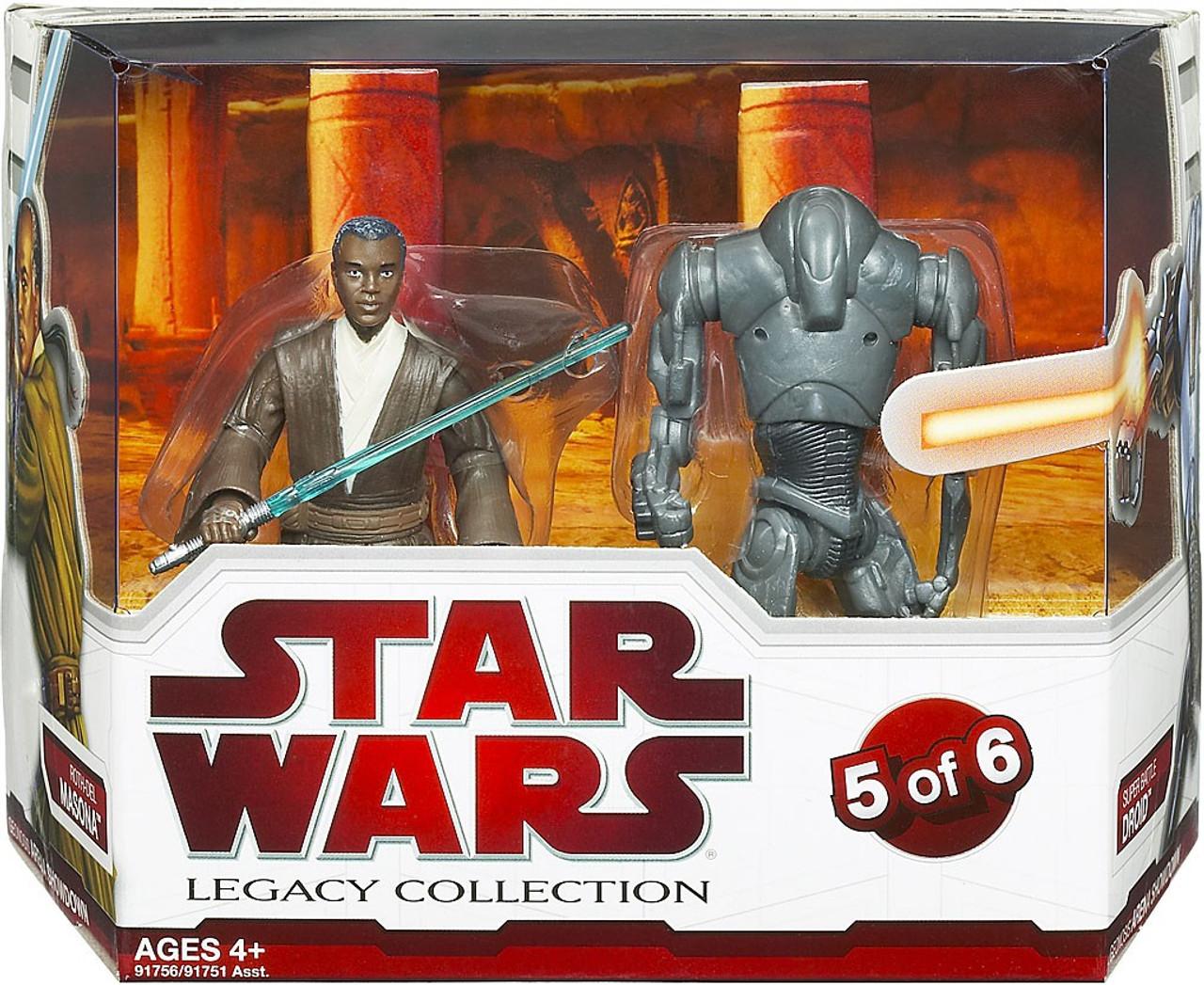 STAR WARS Battle Pack Geonosis Arena Obi Wan /& Jango Fett Battle Droid