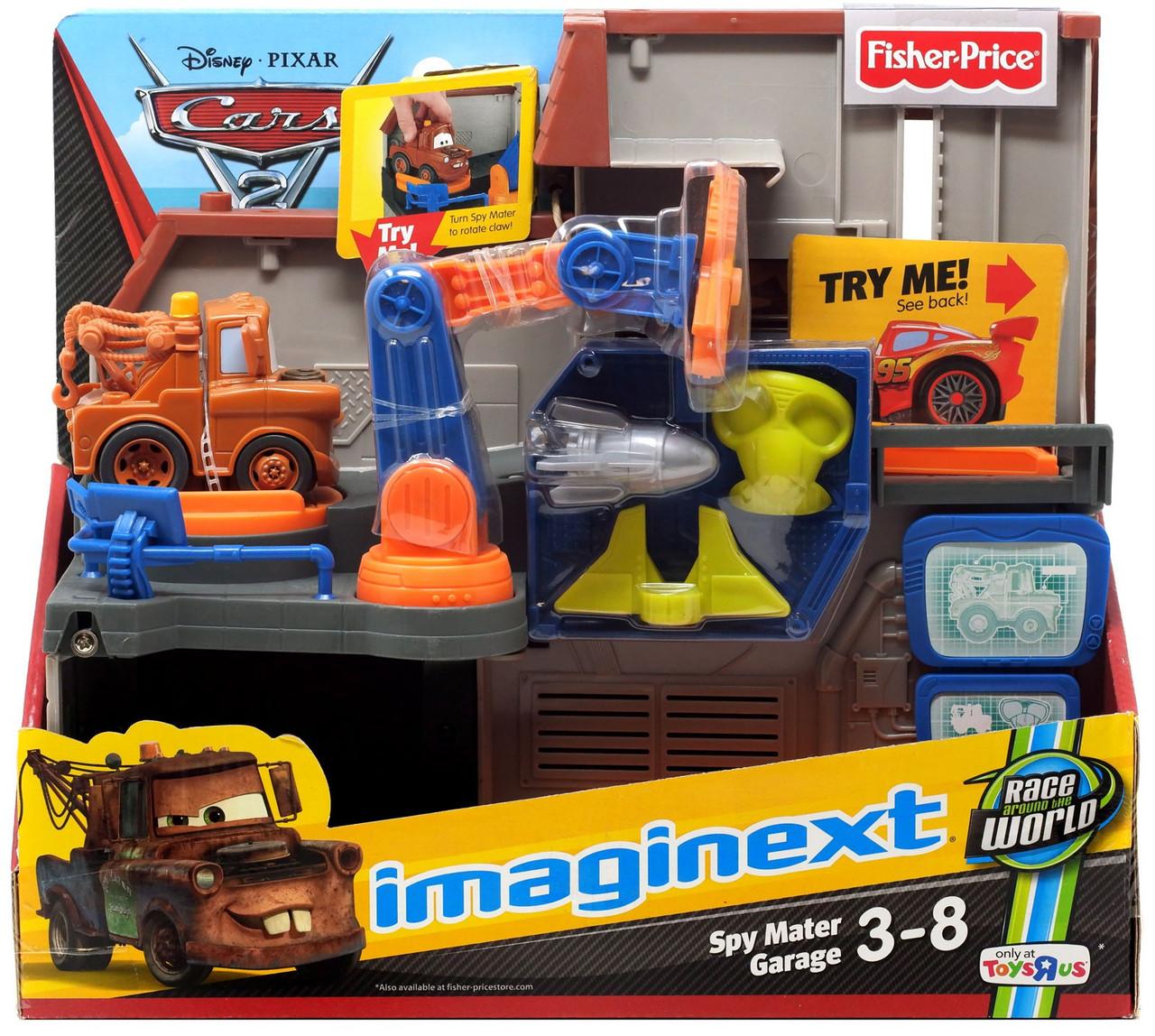 Fisher Price Disney Pixar Cars Cars 2 Imaginext Spy Mater Garage