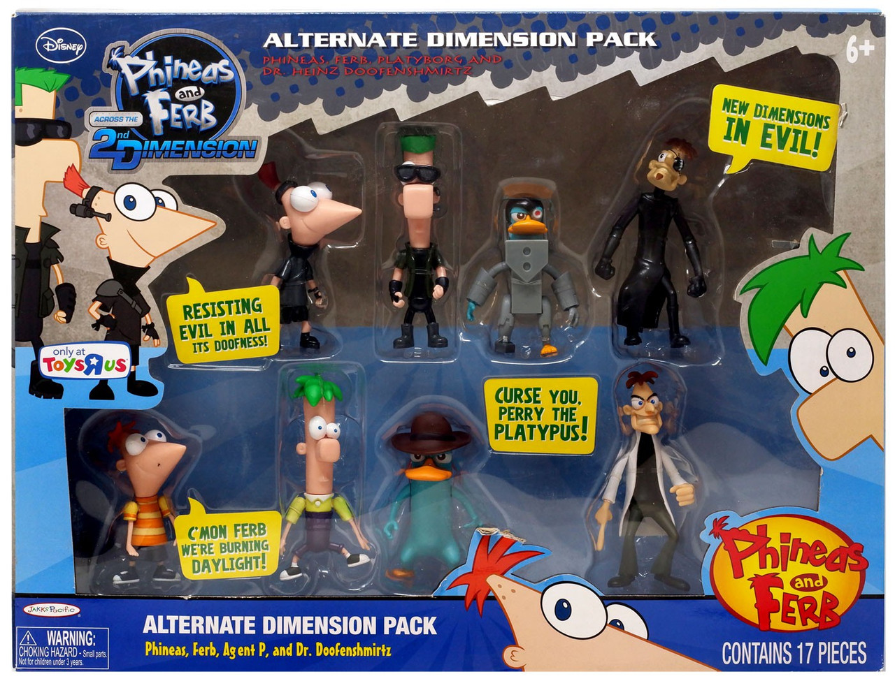 Phineas and Ferb Across the 2nd Dimension Agent P /& normbot Action Figure 2-Pack
