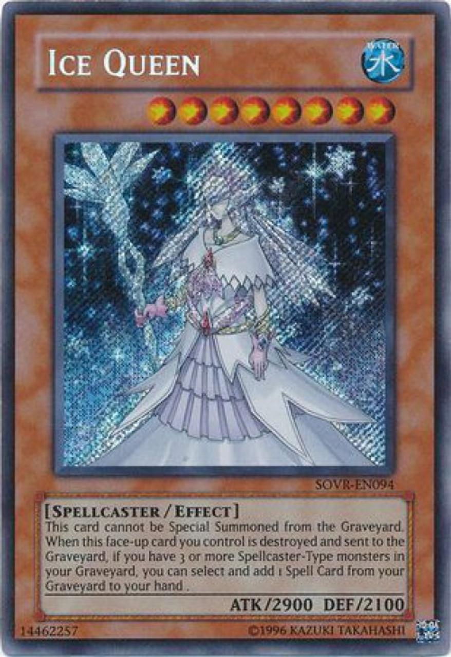 YuGiOh Stardust Overdrive Secret Rare Ice Queen SOVR-EN094