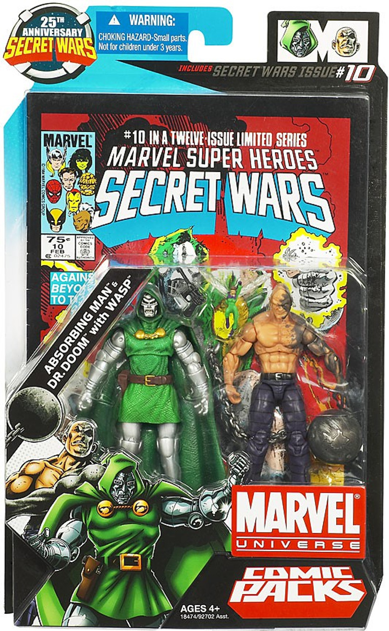 Marvel Universe Absorbing Man & Dr  Doom with Wasp Action Figure 2-Pack #10
