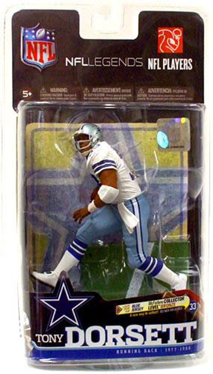 new products 12ca7 5511f McFarlane Toys NFL Dallas Cowboys Sports Picks Legends Series 6 Tony  Dorsett Action Figure [White Jersey]