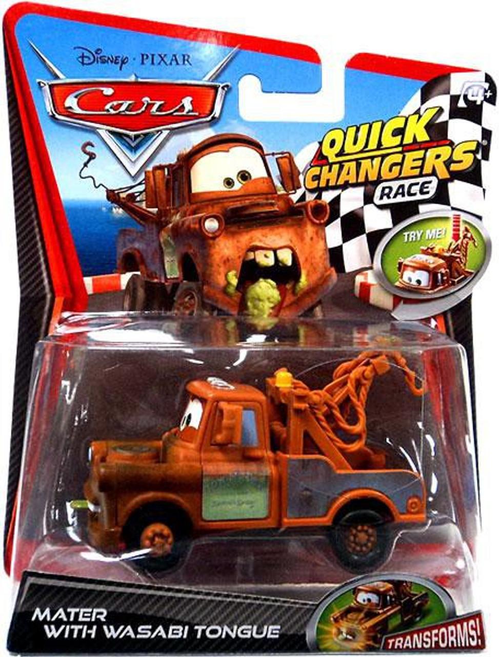 Disney Pixar Cars Cars 2 Quick Changers Race Mater With Wasabi
