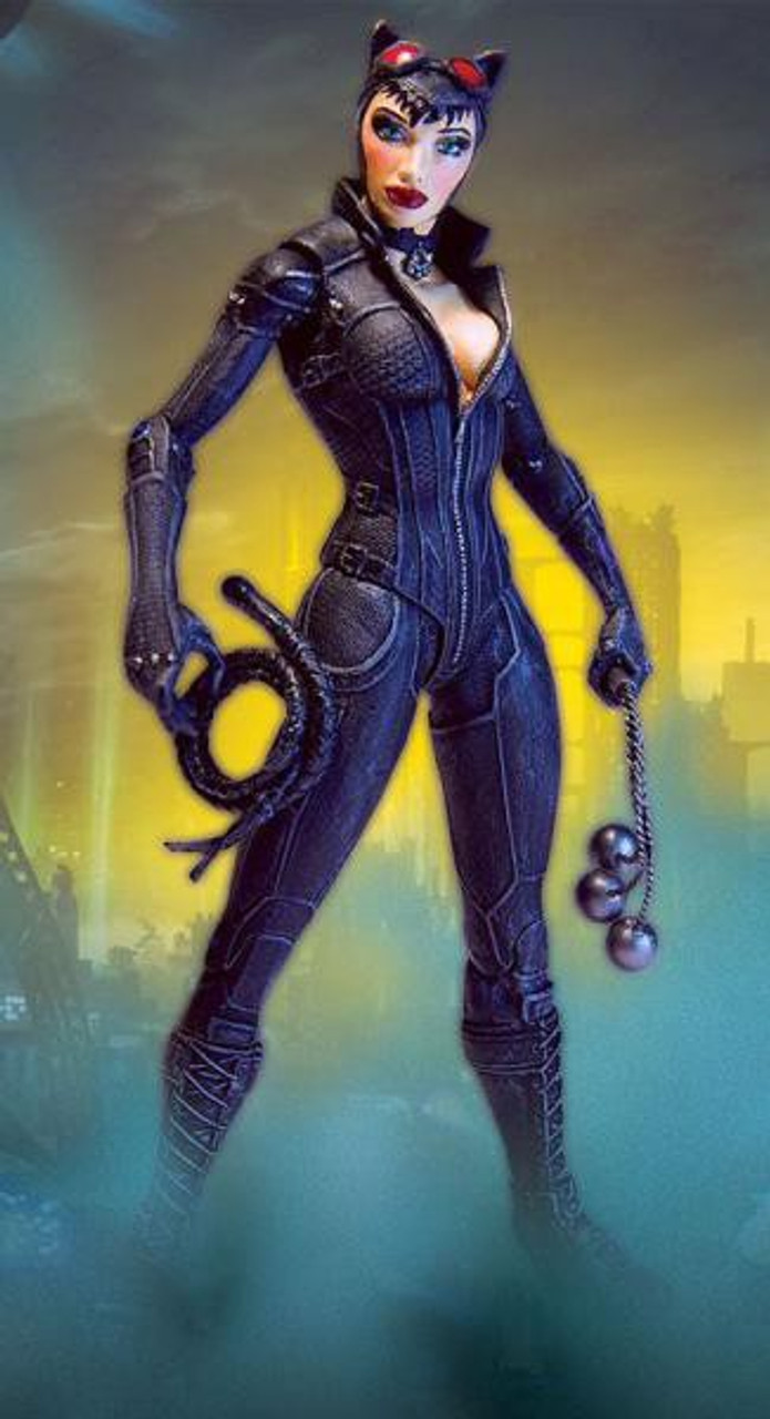 catwoman arkham batman dc action knight direct geeknative figures statues superhero dark