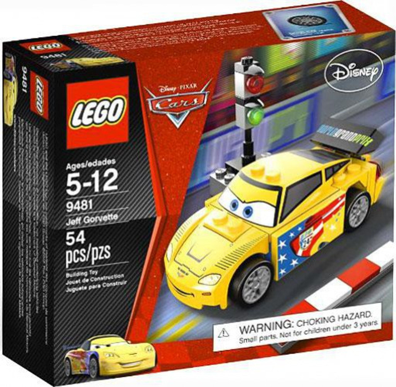 Lego Disney Pixar Cars Jeff Gorvette Set 9481 Toywiz