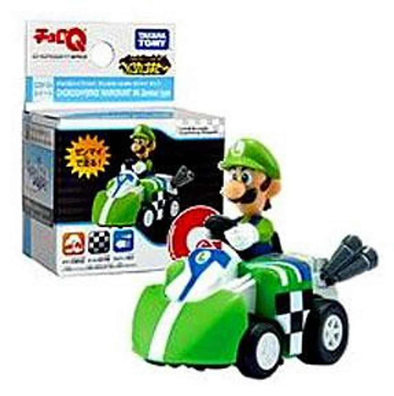 Super Mario Mario Kart Wii Hybrid Pull Back Racer Luigi