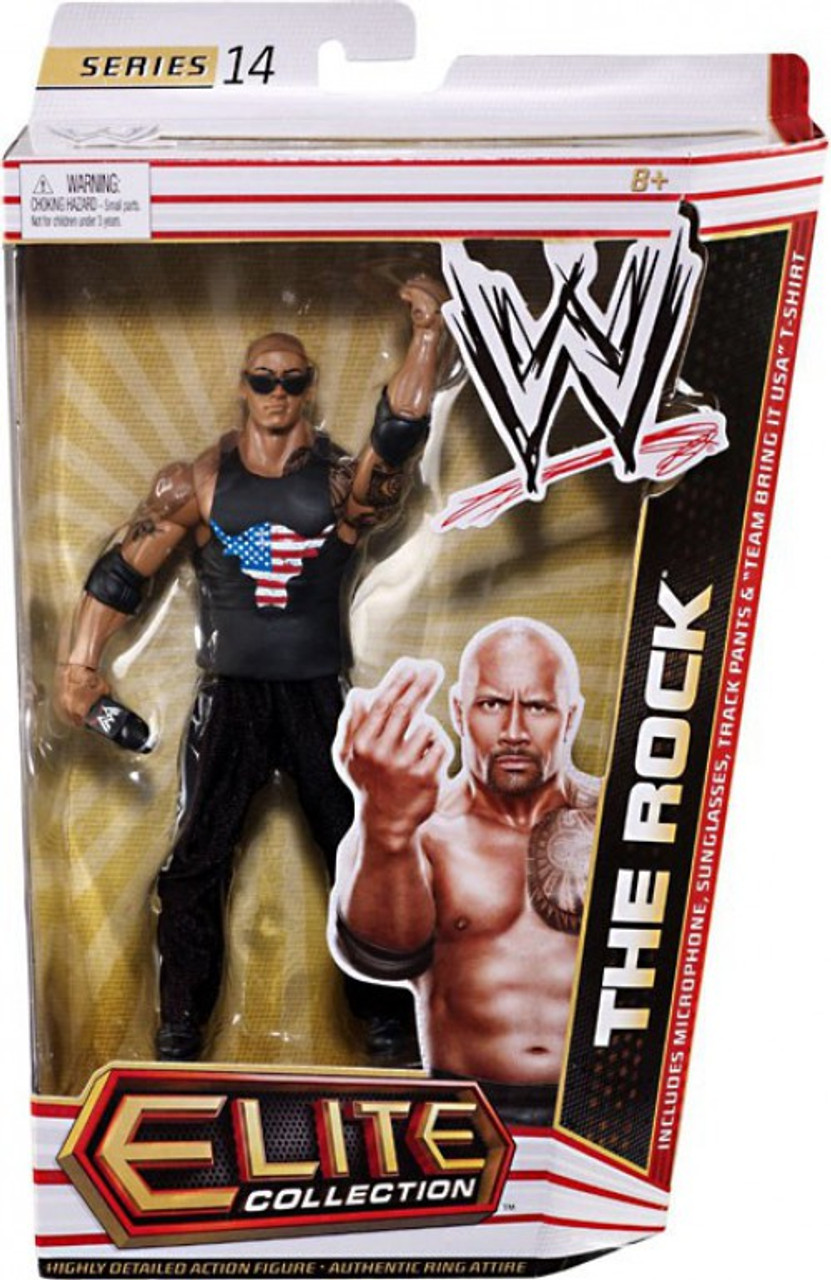 WWE Wrestling Elite Collection Series 14 The Rock Action Figure