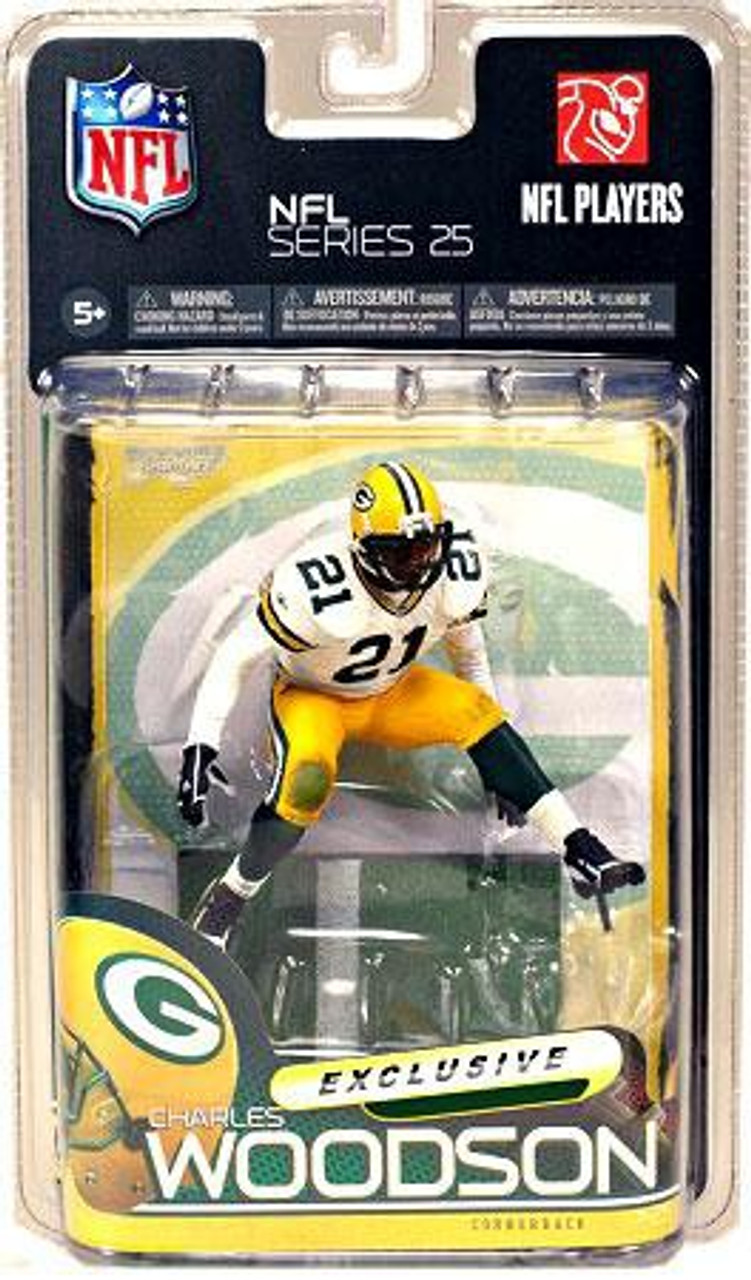 promo code b75fc 17947 McFarlane Toys NFL Green Bay Packers Sports Picks Series 25 Charles Woodson  Exclusive Action Figure [White Jersey]