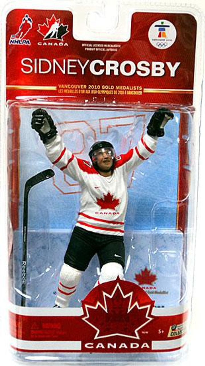 McFarlane Toys NHL Pittsburgh Penguins Sports Picks Team Canada Series 2  Sidney Crosby Action Figure White Jersey - ToyWiz 08279674e