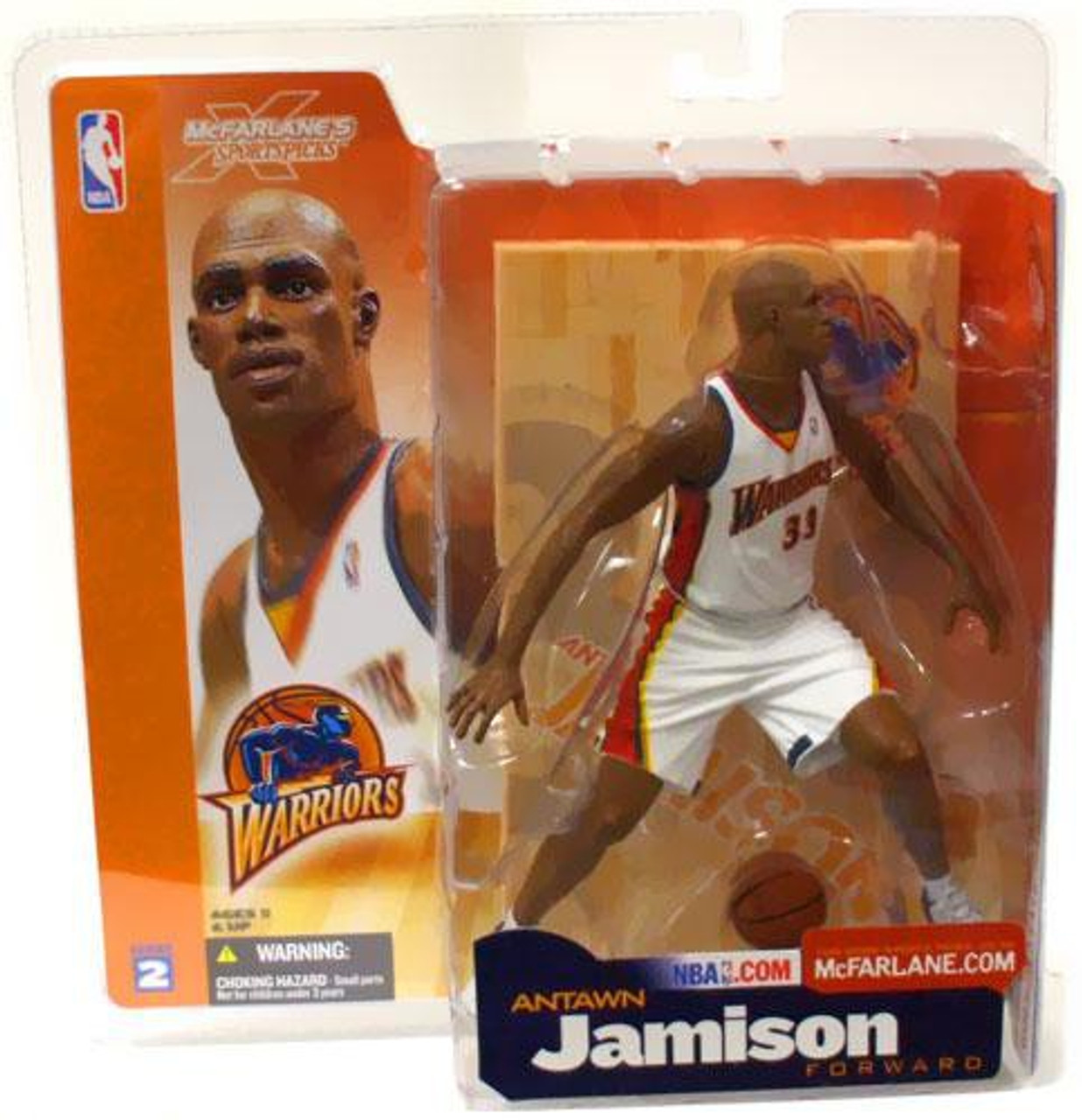 online store f0699 0534e McFarlane Toys NBA Golden State Warriors Sports Picks Series 2 Antawn  Jamison Action Figure [White Jersey]