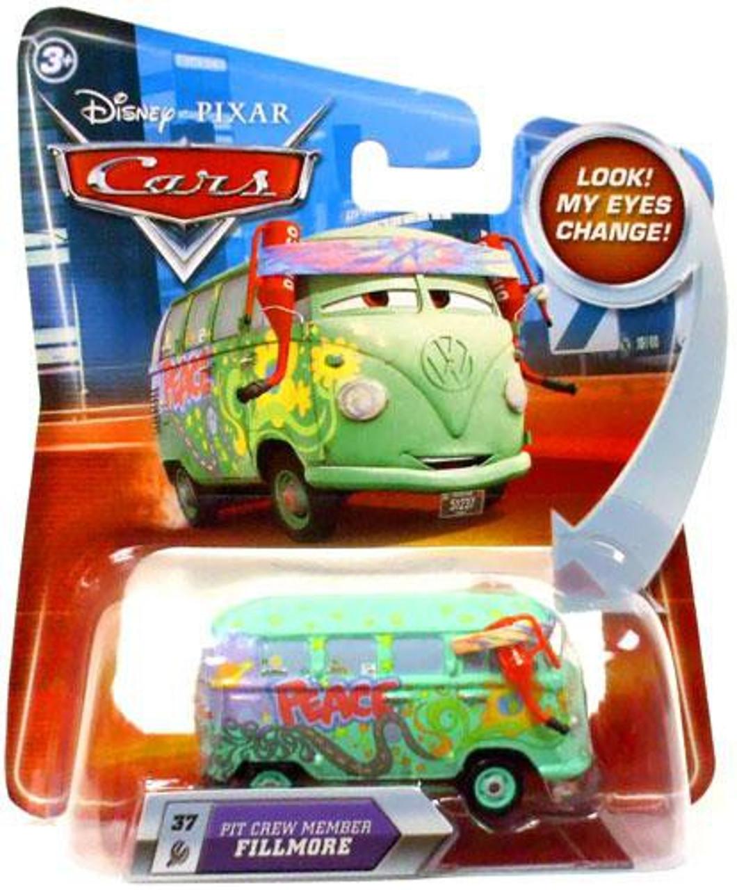 Disney Pixar Cars Lenticular Eyes Series 2 Pit Crew Member Fillmore