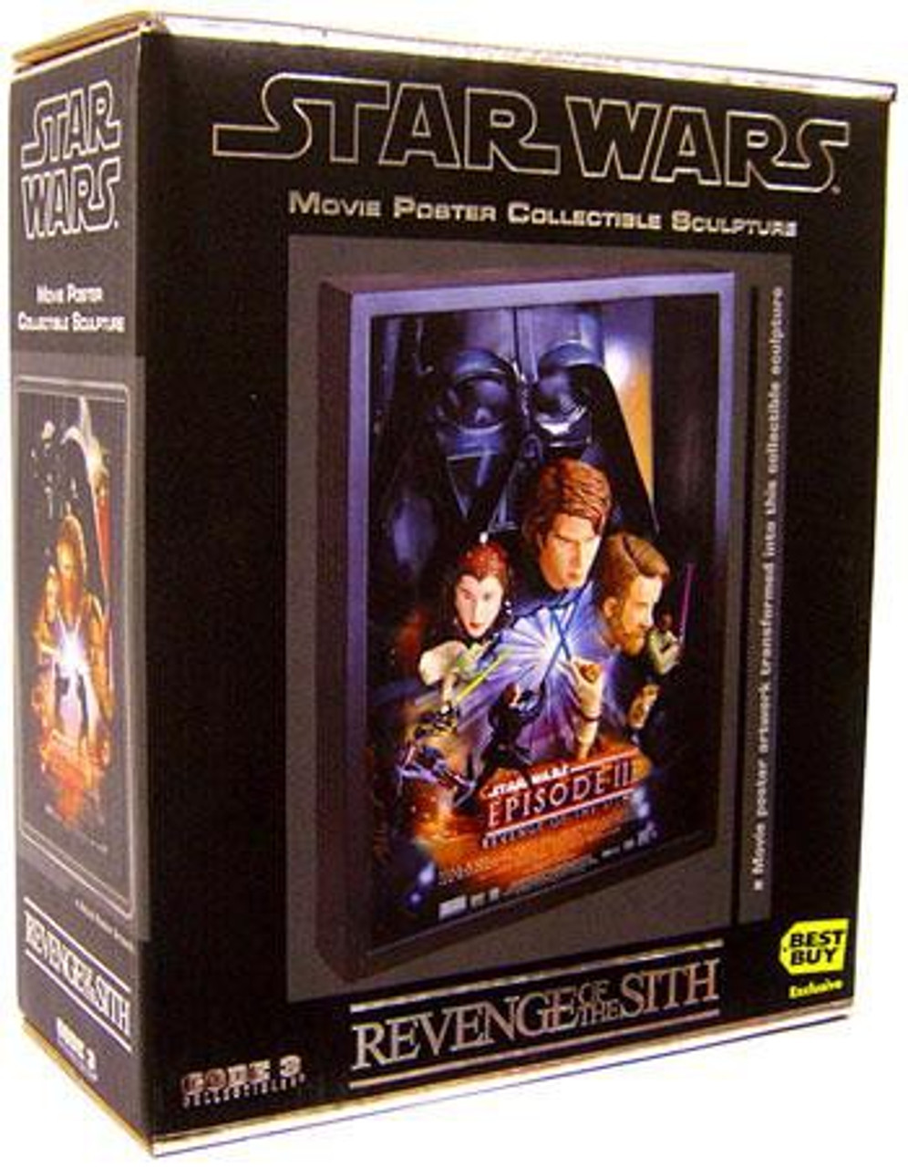 Star Wars Revenge Of The Sith Movie Poster Collectible Sculpture Code 3 Toywiz