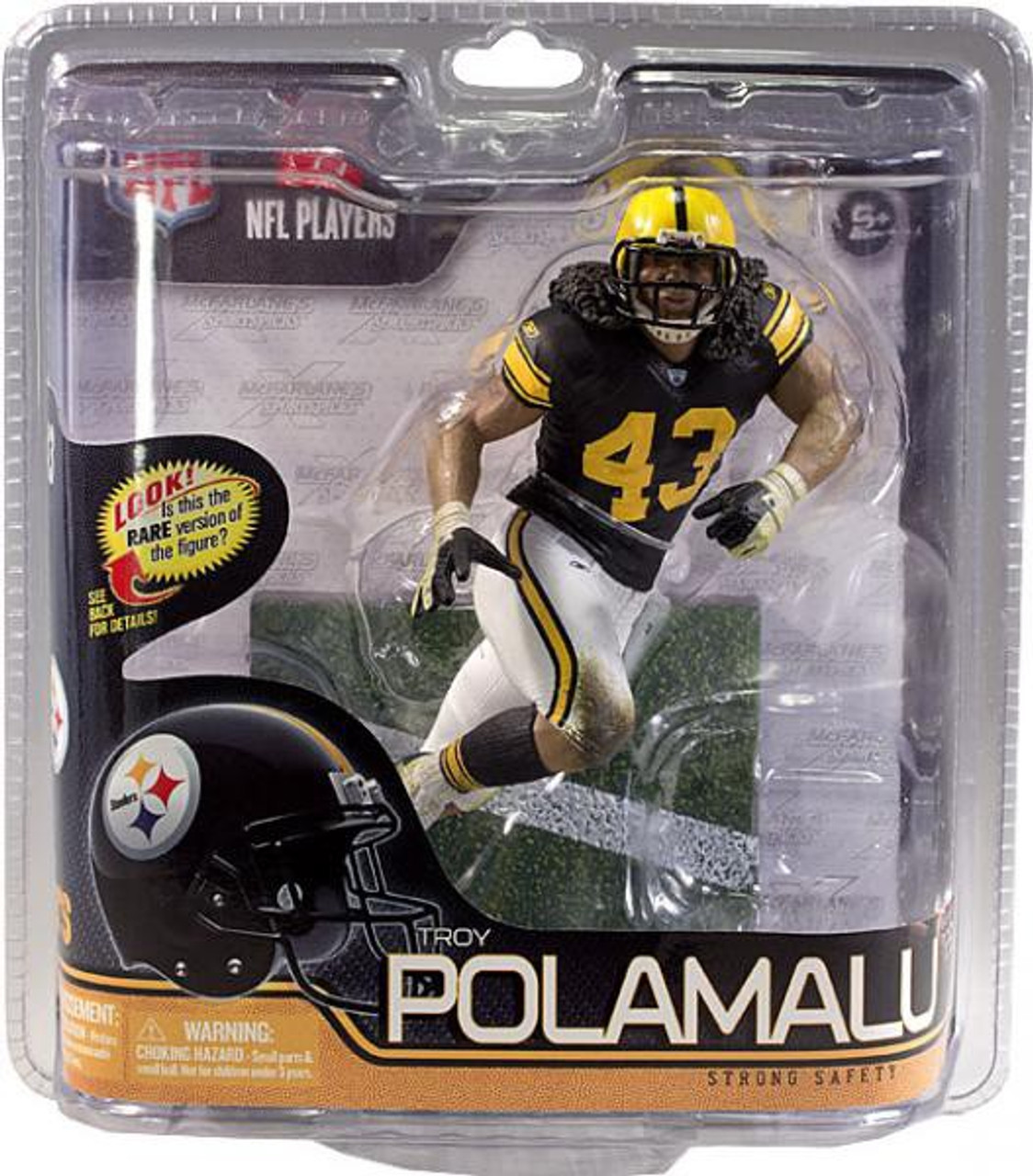 official photos 3d042 0d214 McFarlane Toys NFL Pittsburgh Steelers Sports Picks Series 29 Troy Polamalu  Action Figure [Retro Jersey]