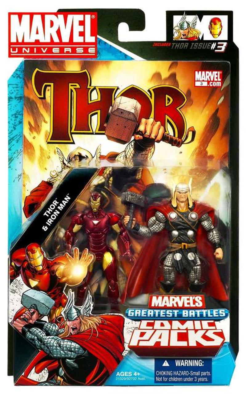 Speelgoedfiguurtjes Hasbro Marvel Avengers Age of Ultron  Thor & Iron Man w/ Arc ATV Striphelden