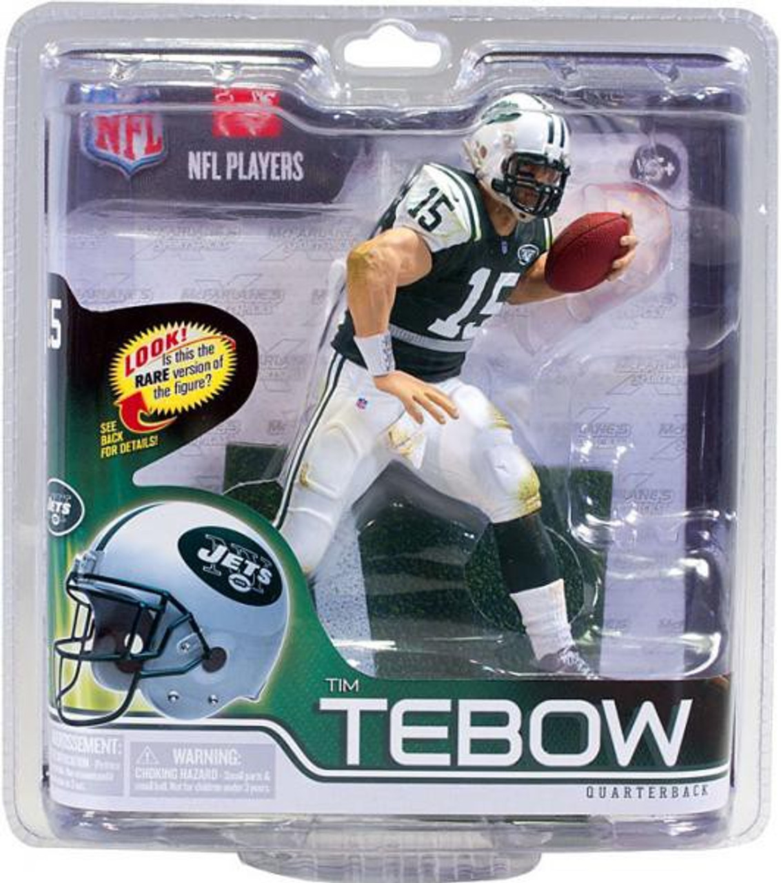 75e959d06 McFarlane Toys NFL New York Jets Sports Picks Series 30 Tim Tebow Action  Figure Green Jersey - ToyWiz