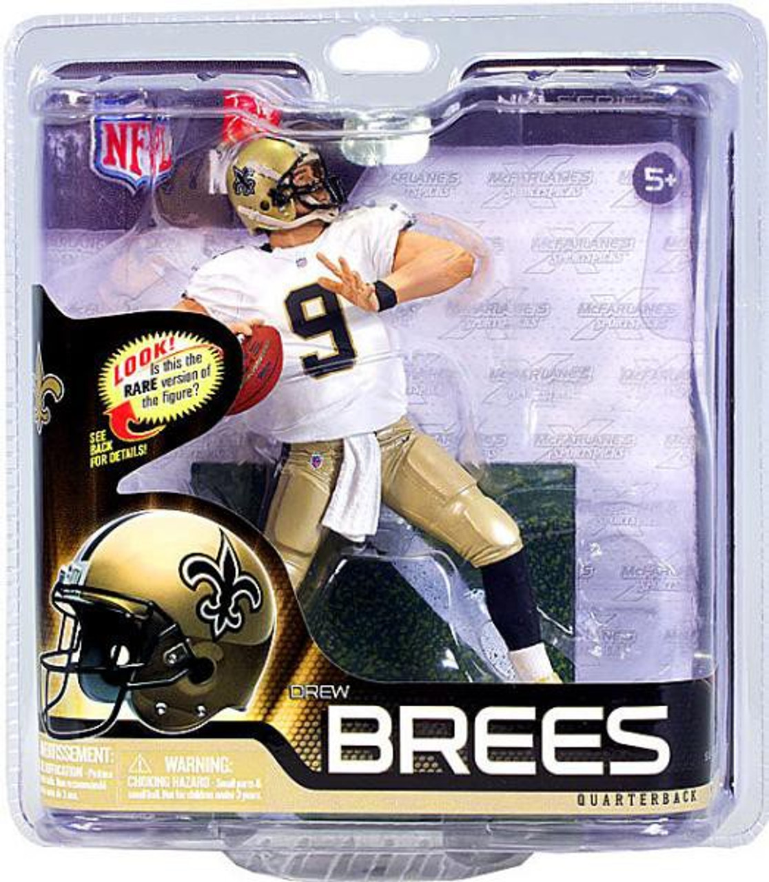 9a0871c31c2 McFarlane Toys NFL New Orleans Saints Sports Picks Series 31 Drew Brees  Action Figure White Jersey - ToyWiz