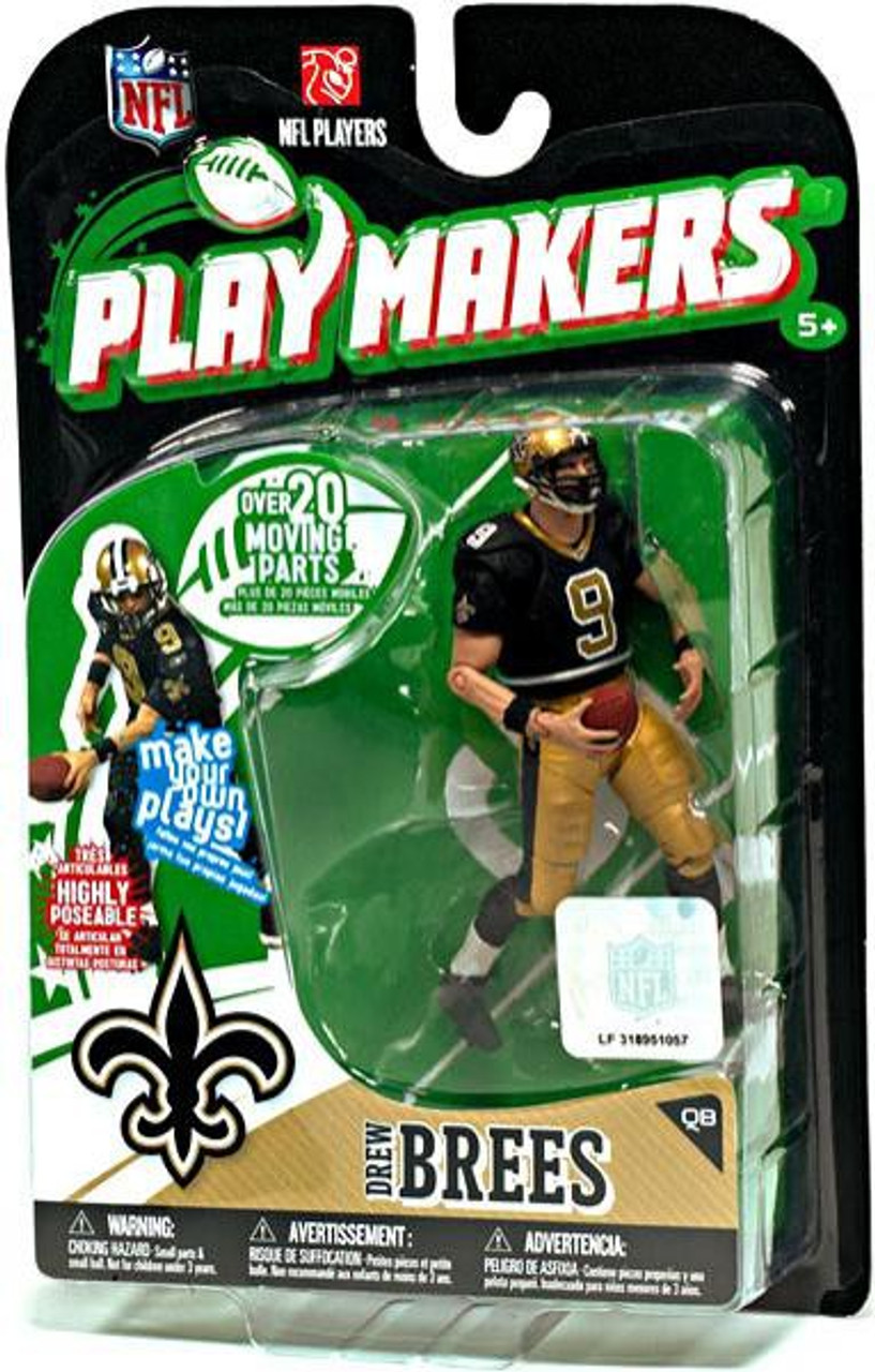54c461ddbc8 McFarlane Toys NFL New Orleans Saints Playmakers Series 1 Drew Brees Action  Figure - ToyWiz